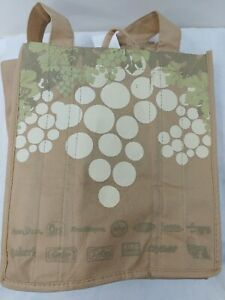 Wine Tote Bag Holds 6 Pack Bottles  Kroger Ralph's King's Tan Color See Photos
