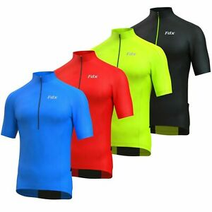 FDX Cycling Jersey Half Sleeve Biking Top Breathable Fabric HiViz Biking Top