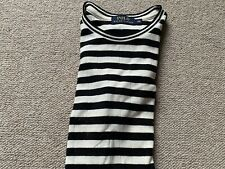 Genuine Ralph Lauren Top Stripe V Neck T-shirt XS 8 Bought In US Immaculate