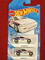 2020 Hot Wheels Lot of 2! '88 Honda CRX  C RX 1988 White 123/250 HW Honda 5/5