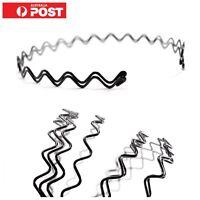 2pc/ Women Unisex Black Metal Wire ZigZag Headband Head Hair Hoop Adjustable