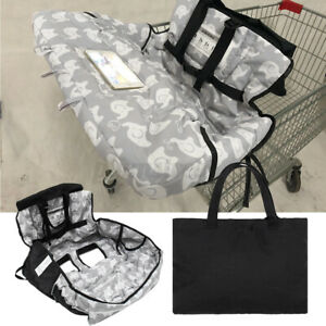 Baby Shopping Trolley Cart Seat Pad High Chair Cover Mat Printing with Handbag