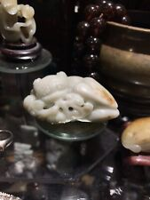 Antique Chinese Carved Jade Beast Figurine Ming Dynasty