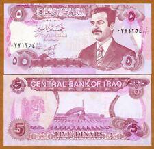 Iraq, 5 Dinars, 1992, P-80c, UNC > Saddam, Emergency issue