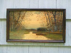 Nice Original Antique Framed Landscape Painting by NEIL REID MITCHILL
