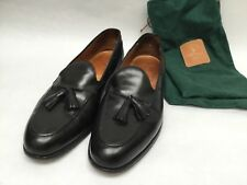 Rare Ralph Lauren Polo Black Tassel Loafers Shoes 11 1/2 D Made In England w/Bag