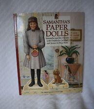 American Girls Samanthas Paper Dolls Vintage Retired Model 57013 Complete