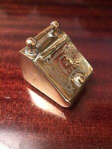 dolls house miniature brass coal scuttle