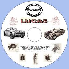 STANDARD TRIUMPH LUCAS PARTS CATALOGUES TR3 TR4 TR4A TR5 1960 - 1971  pdf