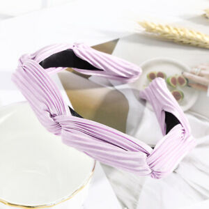 Fashion Women Hair Band Solid Color Cross Headband Girls Knot Hair Accessories