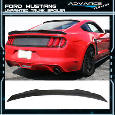 Fit 15-18 Ford Mustang S550 V6 GT Coupe 2Dr H Style ABS Trunk Spoiler Wing