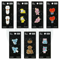 BTS BT21 Official Authentic Goods Pin Badge 7Characters By Monopoly + Track Num