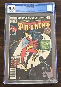 CGC 9.6 SPIDER-WOMAN #1 Marvel Comics 1978 New Origin Jessica Drew White Pages