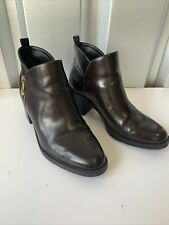 Zara Trafaluc Ankle Boots Size 5 / 38- Brown Front And Black At The Back