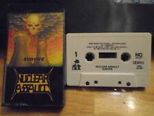 RARE OOP Nuclear Assault CASSETTE TAPE Survive metal S.O.D. Exit-13 Anthrax 1988