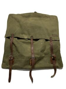 True Vintage Canvas and Leather Canoe and Portage Pack-made in USA Great Shape