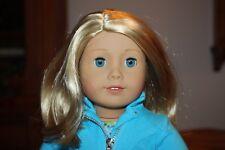 "New American Girl Truly Me 18"" Doll #63 Lt Skin Short Blond Hair Blue Eyes G"