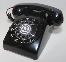 Western Electric Vtg Black Rotary Dial Desk Telephone Model 500DM Reconditioned