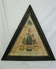 Antique Hammondsport Wine Co. Painted Tin Champagne Sign New York State