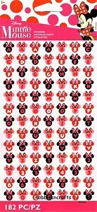 MINNIE HEADS ALPHABET Jolee's Boutique 3-D Disney stickers 2 SHEETS 182 stickers