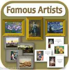 FAMOUS ARTISTS teaching resources Lessons posters heading display KS1 2 on CD
