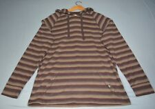 prAna Breathe Pullover Hoodie - Brown Stripped - Size L*