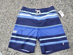 NEW! Men's POLO RALPH LAUREN Swimwear Bathing Suit Blue Board Shorts nwt MEDIUM