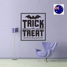 Halloween Party Window Door Wall TRICK or TREAT Sticker venue Decor Decorations