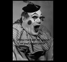 Scary Vintage Creepy Clown PHOTO Freak Weird Halloween Costume