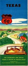 1947 Phillips 66 Road Map: Texas NOS