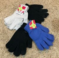 Girls Black Blue Gray Joe Boxer Texting Gloves 4 Pair