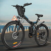 26'' Electric Bike Foldable Mountain Bicycle Ebike 21 Speed 36V with Li-Battery