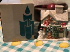PartyliteToy Shop Tealight House Original Box Christmas Village Decor Porcelain