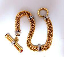 1.00ct Natural Cabochon Ruby Toggle Bracelet 14kt