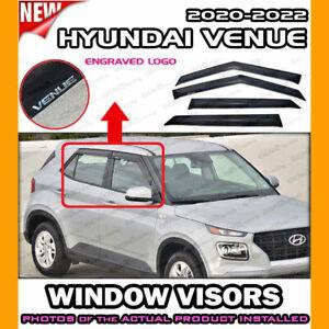 WINDOW VISORS for 2020 → 2021 Hyundai Venue / DEFLECTOR VENT SHADE RAIN GUARD