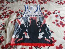 More details for team gb rio 2016 paralympics adidas loose fit vest bnwt medium
