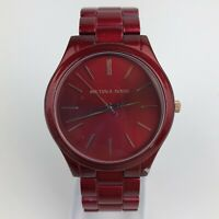 Michael Kors Slim Runway Women's Stainless Steel Watch - 42MM Red MK3895 READ