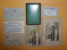 "1918 US China Chinese Gentleman Cabinet Real Photo ""Fong Chin"" Lot of 7 Rare"