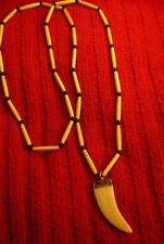 Native American Indian -Man Beads!!! Long Buffalo Bones Claw Necklace