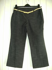 BLACK CROP TROUSERS BY DENIMCO - SIZE 12