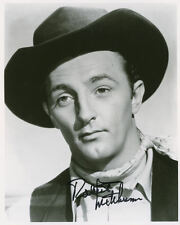 "10""x8"" PHOTO PRINTED AUTOGRAPH - ROBERT MITCHUM a"
