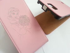 Samsung Galaxy S2 i9100 BELLE BEAUTY AND THE BEAST LEATHER pink flip phone case