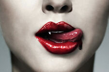 TRUEBLOOD vampire poster BIG LIPS TONGUE BLOOD gory modern MESSY 24X36