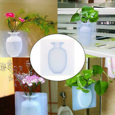 Magic Rubber Silicone Sticky Flower wall hanging Vase Container Floret Bottle E