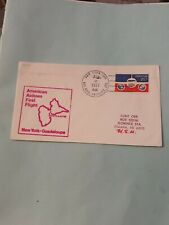 COVER USA 1ST FLIGHT AMERICAN AIRLINES NEW YORK GUADELOUPE 2 APRIL 1977