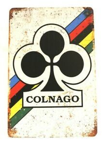 Colnago Bicycles Tin Sign Poster Bike Shop Store Rustic Look Cycling Man Cave