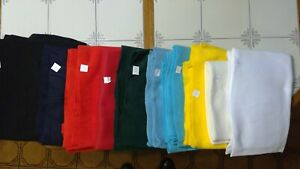 Lot of 11 - Bold Colored Fleece Fabric  - multiple shades
