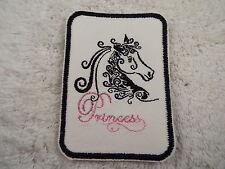 "PRINCESS HORSE 4-1/2"" Embroidery Iron-on Applique Custom Patch (E2)"