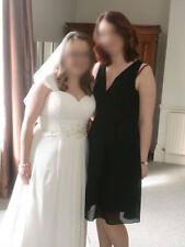 Ladies size 12 Amelia Collecton black dress party bridesmaid short sleeveless