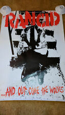 Rancid poster And out come the wolves Original 24x36 Mint Oop Uk Cover punk Htf